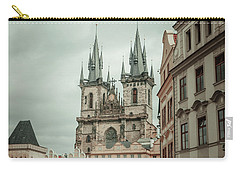 Carry-all Pouch featuring the photograph Church Of Our Lady Before Tyn by Jenny Rainbow
