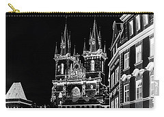Carry-all Pouch featuring the photograph Church Of Our Lady Before Tyn. Night Prague by Jenny Rainbow