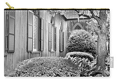 Carry-all Pouch featuring the photograph Church Of The Cross Bluffton Sc Black And White by Lisa Wooten