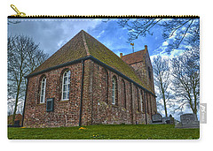 Carry-all Pouch featuring the photograph Church On The Mound Of Oostum by Frans Blok