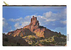 Carry-all Pouch featuring the photograph Church Rock by Debby Pueschel