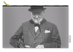 Churchill Posing With A Tommy Gun Carry-all Pouch by War Is Hell Store