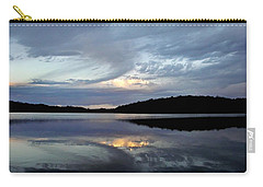 Carry-all Pouch featuring the photograph Churning Clouds At Sunrise by Chris Berry