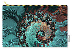 Carry-all Pouch featuring the digital art Churning Sea Fractal by Bonnie Bruno