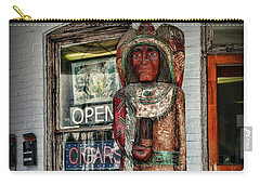Carry-all Pouch featuring the photograph Cigar Store Indian by Paul Ward