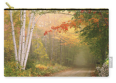 Cilley Hill Road In Underhill Vermont. Carry-all Pouch