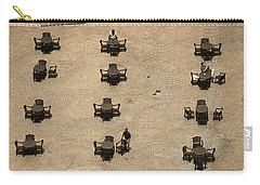 Cincinnati - Fountain Square Sepia Carry-all Pouch by Frank Romeo