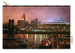 Red Sunset Sky In Cincinnati Ohio Carry-all Pouch by Art America Gallery Peter Potter