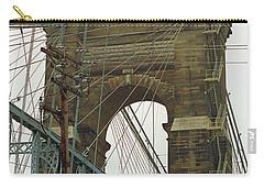 Cincinnati - Roebling Bridge 4 Carry-all Pouch by Frank Romeo