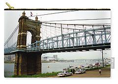 Cincinnati - Roebling Bridge 5 Carry-all Pouch by Frank Romeo