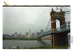 Cincinnati - Roebling Bridge 6 Carry-all Pouch by Frank Romeo