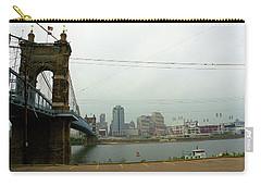 Cincinnati - Roebling Bridge 7 Carry-all Pouch by Frank Romeo