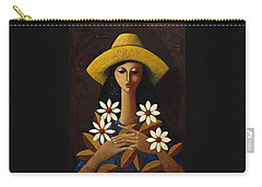 Carry-all Pouch featuring the painting Cinco Margaritas by Oscar Ortiz