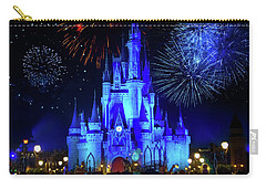 Cinderella Castle Fireworks Carry-all Pouch by Mark Andrew Thomas