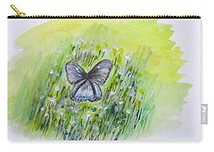 Cindy's Butterfly Carry-all Pouch by Clyde J Kell