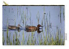 Cinnamon Teal Pair Carry-all Pouch
