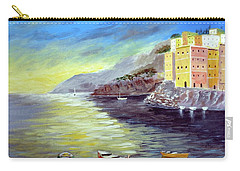 Carry-all Pouch featuring the painting Cinque Terre Dreams by Larry Cirigliano