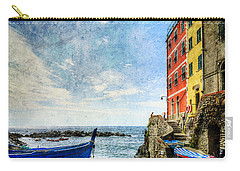 Cinque Terre - Little Port Of Riomaggiore - Vintage Version Carry-all Pouch