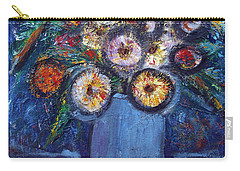 Circle Of Flowers Carry-all Pouch