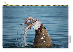 Carry-all Pouch featuring the photograph Circle Of Life - Wildlife Art by Jordan Blackstone