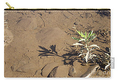 Carry-all Pouch featuring the photograph Circle Shadow Plant by Marie Neder