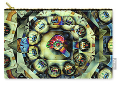 Carry-all Pouch featuring the digital art Circled Squares by Ron Bissett