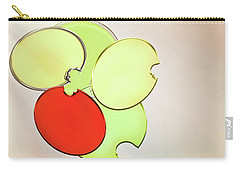 Circles Of Red, Yellow And Green Carry-all Pouch