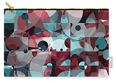 Carry-all Pouch featuring the digital art Circles Squared by Shawna Rowe