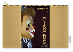 Carry-all Pouch featuring the photograph Circus Clown By Kaye Menner by Kaye Menner