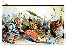 Circus Clowns - Vintage Circus Advertising Poster Carry-all Pouch