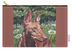 Carry-all Pouch featuring the painting Cirneco Dell'etna by Lee Ann Shepard