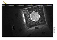 Carry-all Pouch featuring the photograph Citadel Dome Of Alex Bw by Donna Corless