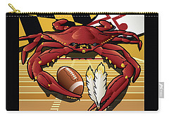 Citizen Crab Redskin, Maryland Crab Celebrating Washington Redskins Football Carry-all Pouch