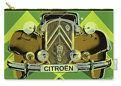Carry-all Pouch featuring the digital art Citroen Traction Avant  by Jean luc Comperat