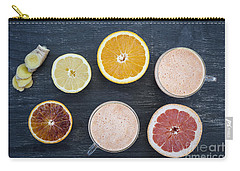 Citrus Smoothies Carry-all Pouch by Elena Elisseeva
