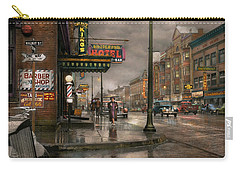 City - Amsterdam Ny -  Call 666 For Taxi 1941 Carry-all Pouch by Mike Savad