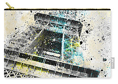 City-art Paris Eiffel Tower Iv Carry-all Pouch by Melanie Viola