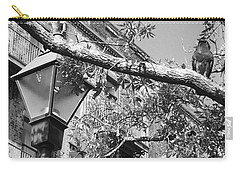 City Bird Black And White Carry-all Pouch