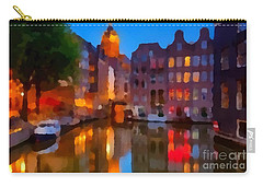 City Block 900 Soft And Dreamy In Thick Paint Carry-all Pouch by Catherine Lott
