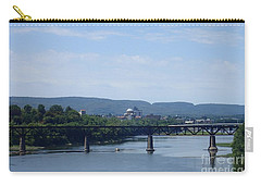 Carry-all Pouch featuring the photograph City Bridges by Christina Verdgeline