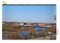 City By The River Carry-all Pouch by Yumi Johnson