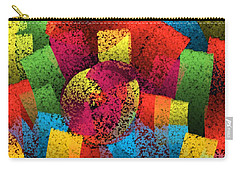Carry-all Pouch featuring the digital art City Center by Silvia Ganora