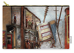 Carry-all Pouch featuring the photograph City - Cleveland Oh - Open House 1913 by Mike Savad
