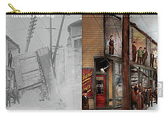 Carry-all Pouch featuring the photograph City - Cleveland Oh - Open House 1913 - Side By Side by Mike Savad