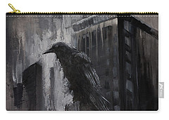 City Dweller Raven Dark Gothic Crow Wall Art Carry-all Pouch