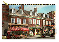 Carry-all Pouch featuring the photograph City - Easton Md - A Slice Of American Life 1936 by Mike Savad