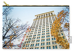 Carry-all Pouch featuring the photograph City Federal Building In Autumn - Birmingham, Alabama by Shelby Young