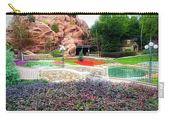Carry-all Pouch featuring the photograph City Flare Flower Garden Walkway by Aimee L Maher Photography and Art Visit ALMGallerydotcom