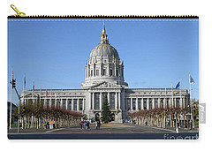 Carry-all Pouch featuring the photograph City Hall by Steven Spak