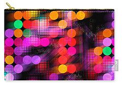 Carry-all Pouch featuring the digital art City Lights by Fran Riley